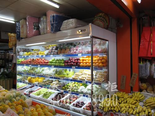 燕南路财记水果店保鲜柜|大冰柜价格工程案例