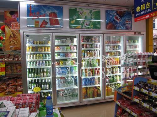 保鲜展示柜,超市展示柜,展示柜,工程案例