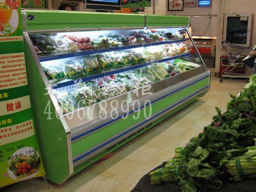 深圳福田天虹商场益强蔬菜保鲜柜—超市冷藏柜工程案例