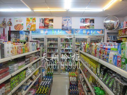 深圳宝安立式饮料柜-三开门冰柜工程案例