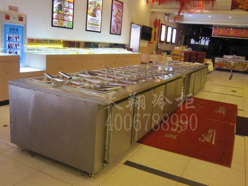 东莞南城火锅店专用冰柜-卧式冰柜-厨房保鲜柜工程案例