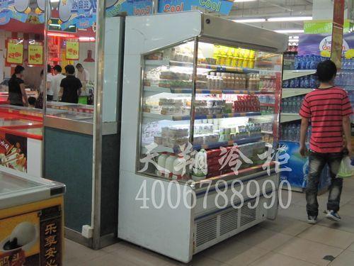 深圳布吉草铺乐福购物广场超市酸奶柜-牛奶保鲜柜工程案例