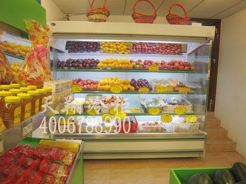 深圳坂田爱鲜果水果超市风幕柜-风幕柜报价工程案例