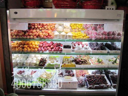 福建厦门水果店保鲜柜-立式风幕柜-厦门风幕柜工程案例