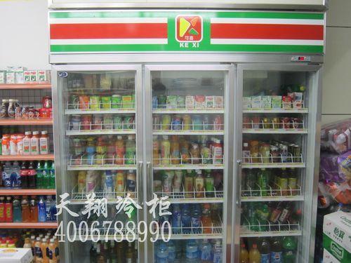 东莞长安喜洋洋连锁便利店冰柜-便利店展示柜工程案