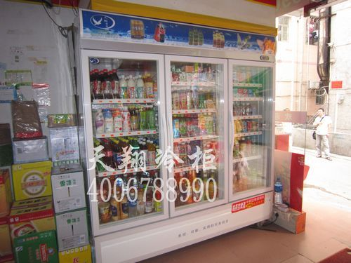 饮料展示柜,三门立式冰柜,便利店冷柜,深圳冷柜