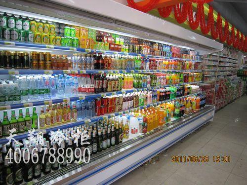 广州新塘利又鲜生活超市鲜肉保鲜柜-蔬菜冷藏柜工程案例
