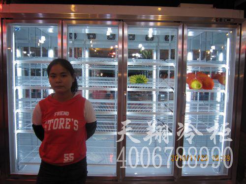清远水果店冷藏柜-水果保鲜柜-水果柜工程案例
