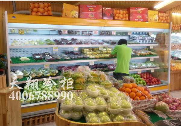 果家(爱果爱家)水果店四米风幕保鲜柜工程案例