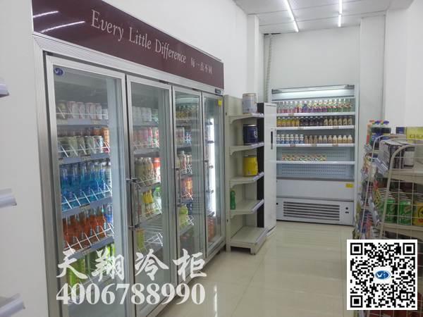 重庆江北SNAX31时来客二十四小时便利店四门冰柜工程案例