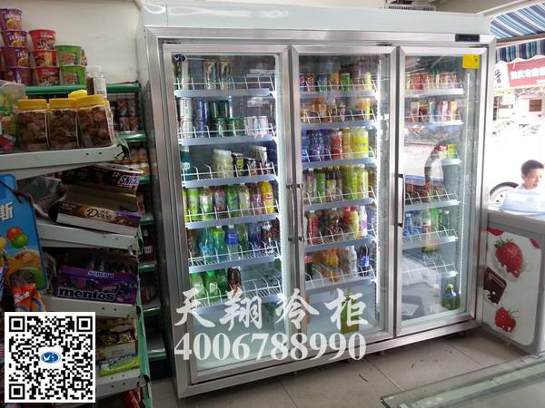 2200升冰柜,三门冰柜,便利店冰柜