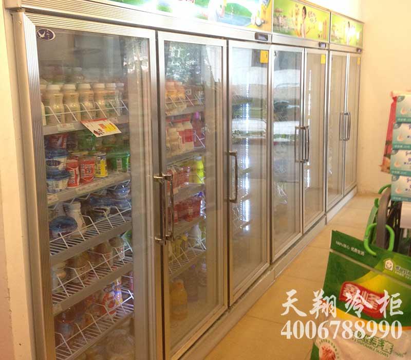 三门展示冷柜,双开门冰柜,商用冰柜,便利店冷柜
