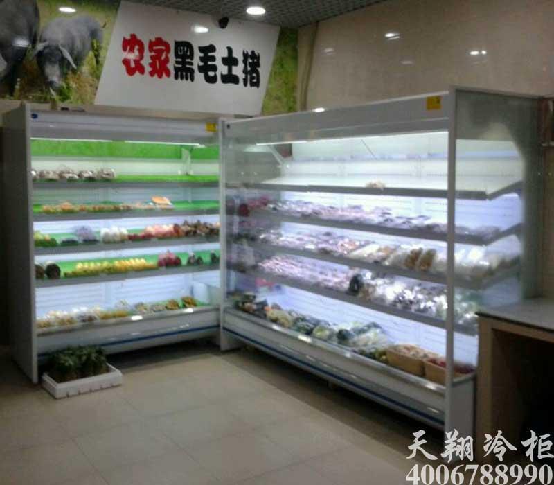 果蔬保鲜柜,水果风幕柜,蔬菜保鲜柜,水果展示柜