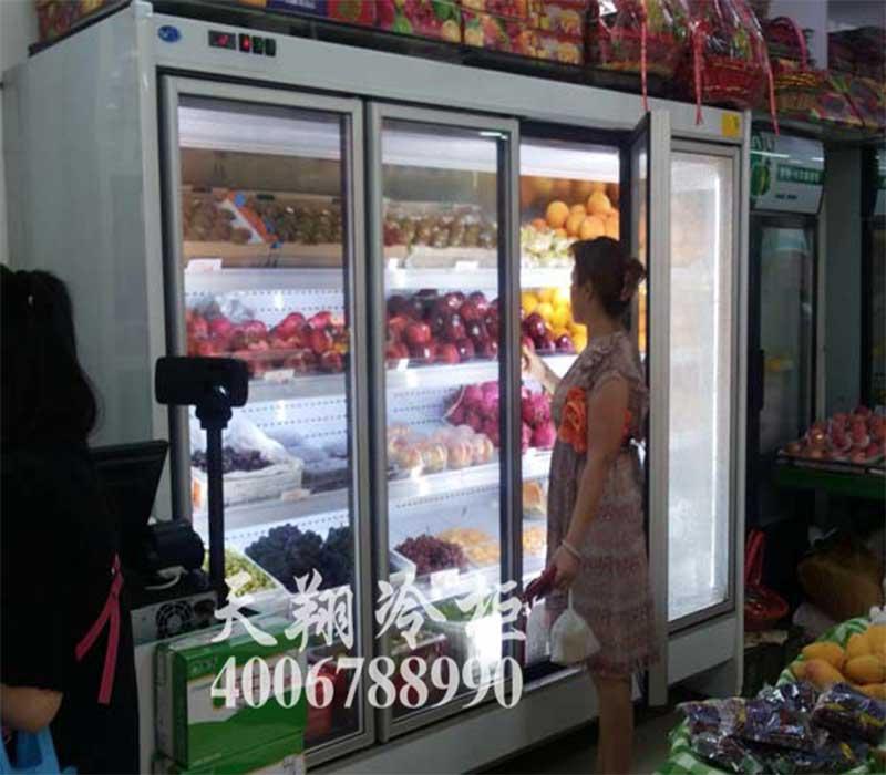 水果风幕柜,玻璃门风幕柜,水果保鲜柜