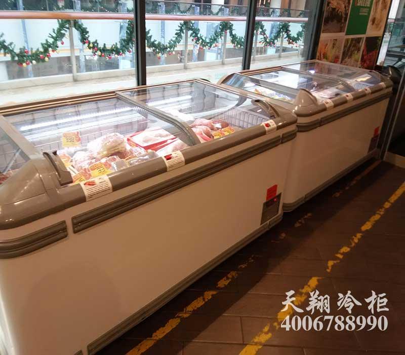 餐厅冷柜,海鲜冷柜,超市组合岛柜,风幕柜